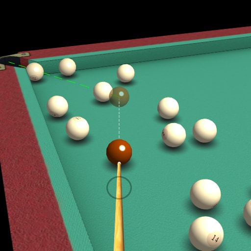 A billiard game